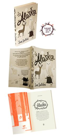 I like how the bar code is incorporated into the design. Alaska by Sue Saliba, published by Penguin, designed by Allison Colpoys.