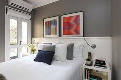 cores para quarto de casal parede cinza now arquitetura