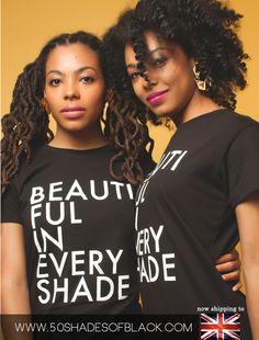 """50 Shades of Black Coffee Table Book, Our Signature """"Beautiful In Every  Shade"""" Shirt, Inaugural Open Photo Shoot Poster, and other gear and jewelry  for men, women, boys, and girls designed by 50 Shades of Black artists that  evoke a spirit of pride, beauty, culture, and heritage and reflect the  nature of this project."""