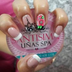 Es muy bonito J Nails, Love Nails, Coffin Nails, Mandala Nails, Fall Nail Colors, Easy Nail Art, Cool Nail Designs, French Nails, White Nails
