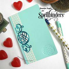 Romantic Agenda Embossed Notebook Tutorial by Jennifer Ingle