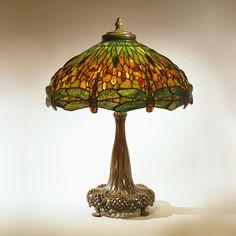 Dragonfly Library Lamp  - Tiffany Studios