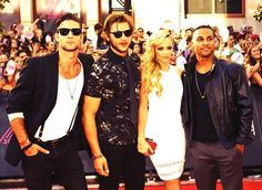 Bitten Cast - Much Music Video Awards- I see this photo and for some reason their outfits and attitude  crack me up.