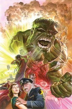 Savage Hulk #1 - 75th Anniversary Variant by ALEX ROSS