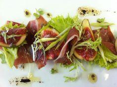 Fig and Ham - Aperitivo in restaurante La Terrazza, Port Adriano, mallorca