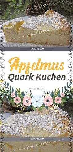 Apfelmus Quark Kuchen really great juicy ! Applesauce Quark Cake Recipes Ingredients: 1 glass of applesauce 100 g butter, soft 200 g sugar 4 egg [. Pastry Recipes, Cupcake Recipes, Cookie Recipes, Snack Recipes, Fall Desserts, Cookie Desserts, Easy Smoothie Recipes, Pumpkin Spice Cupcakes, Ice Cream Recipes