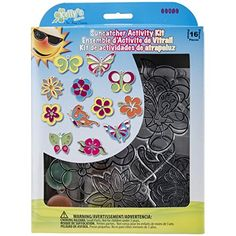 New Image Group SGP-89 Suncatcher Group Activity Kit, Butterfly and Flowers, 12-Pack *** Read more @