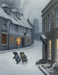The Wind in the Willows - Illustrated by Chris Dunn Winter Illustration, Children's Book Illustration, Book Illustrations, Chris Dunn, Art Calendar, Fairytale Art, Winter Art, Whimsical Art, Art Drawings