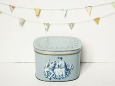 Vintage french tin box PIERROT GOURMAND PARIS 1950 by 5LittleCups, $22.00