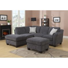 Grey Sectional Sofa, Sofa Couch, Living Room Sectional, Sofa Set, Couches, Living Room Furniture Layout, Living Room Sets, Living Room Designs, Living Room Decor