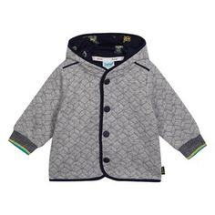 052c74d31880 Baker by Ted Baker Baby boys  grey geometric quilted jersey jacket