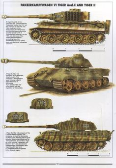 "Photo from album ""Histoire & Collections - Tanks of the WWII"" on Yandex. Tiger Ii, Army Vehicles, Armored Vehicles, Military Weapons, Military Art, Tank Armor, War Thunder, Tiger Tank, Model Tanks"