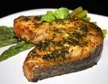 Maple-Mustard Salmon Steaks Recipe - Recipezazz.com