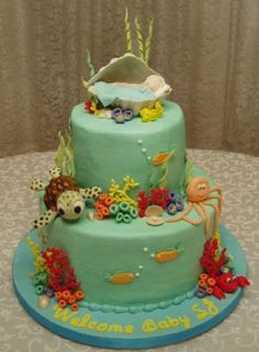 baby shower cakes ocean theme | Under the Sea Baby Shower