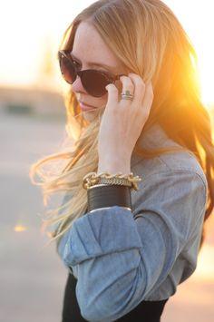 denim and bracelets
