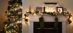 Merry Christmas | Christmas Mantle, Christmas Tree