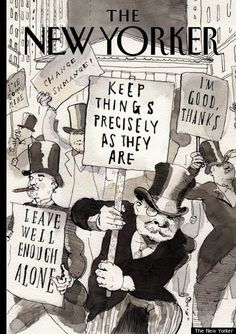 """""""I'm good, thanks."""" The New Yorker cover cartoon takes on Occupy Wall Street.  :)"""