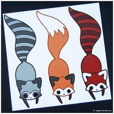 Raccoon, Fox, and Red Panda