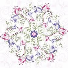soft and feminine mandala design