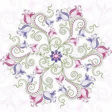 soft and feminine mandala design