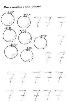 Numerais - Números de 0 a 10 para cobrir e colorir Número 0 - cobrir e colorir Número 1 - cobrir e colorir Número 2 - cobrir...