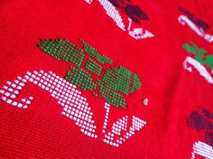 Kurta Fabric from Assam - Red (Third) from Lal10.com