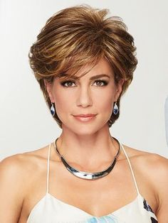 Browse our Short Wigs for women. Short wigs above the shoulder to bobs and boys cuts in straight, wavy to curly styles. Short Hair With Layers, Short Hair Cuts For Women, Short Hairstyles For Women, Short Haircuts, Pretty Hairstyles, Layered Hairstyles, Gabor Wigs, Short Wigs, Synthetic Wigs