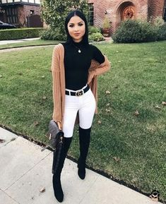 110 Trendy Fall Outfit Ideas to Inspire Yourself Outfit Outfit Casual Fall Outfits You Must Buy Now. Women's Fashion. Chic And Comfy Trendy Fall Outfits, Cute Spring Outfits, Fall Winter Outfits, Black Outfits, Classy Outfits For Going Out, Party Outfit Winter, Outfits With Boots, Dress Winter, Warm Outfits