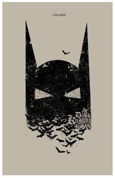 The Dark Knight Rises movie poster design