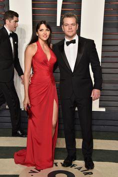 Matt Damon with wife, Luciana Barroso