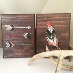 Conjunto de pluma y flecha de arte cadena