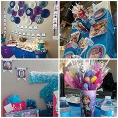 Custom #Frozen inspired birthday party decorations