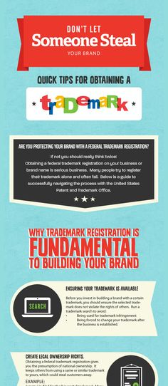 Don't Let Someone Steal Your Brand #Infographic