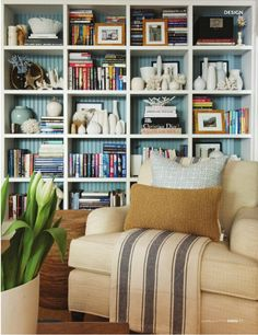 {Dave @ Mecox Gardens} Dabble Mag incredible bookcase styling