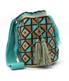 Wayuu Mochila bag Periwinkle