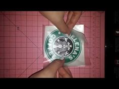 ▶ Reverse weeding and applying vinyl to mug - YouTube