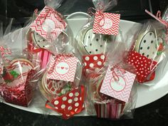 To-Go Boxed Valentine Decorated Sugar Cookie gift by I Am the Cookie Lady