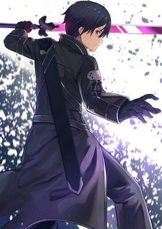 Sword Art Online Kirito, Kirito Sword, Kirito Kirigaya, Kirito Asuna, Online Anime, Online Art, Desenhos Love, Character Art, Character Design