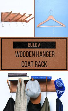 Build a coat rack from wooden hangers!