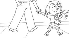 knuffle bunny too coloring pages | The Ugly Duckling coloring page | Literacy: Fairy Tales ...