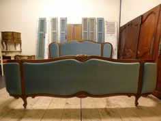 LOVELY VINTAGE FRENCH EMPEROR SIZE BED - JUST IN - 2m wide - dv17