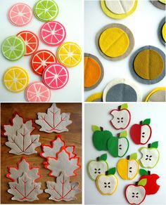 Felt Coasters. I feel like i could handle this. And they're super cute.