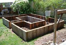 Boxed raised garden