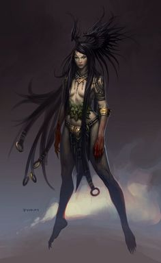 Never really got into Diablo, but the hair on this concept art is pretty damn brilliant.