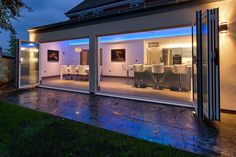 Strympole Way — Harvey Norman Architects - Cambridge - St Albans - Bishops Stortford - residential - cambridgeshire - architect Interior Photography, Night Photography, Harvey Norman, St Albans, Folding Doors, House Extensions, House Built, Open Plan, Building A House
