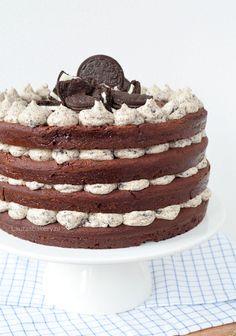 bakken met Oreo's Oreo Cake, Oreo Cupcakes, Food Vans, Cafe Food, Happy Foods, Buttercream Cake, Cookie Desserts, Cakes And More, No Bake Cake