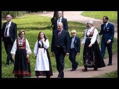 Royal family of Norway held a garden party at the Palace Park - YouTube