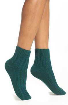 Girly Chunky Cable Ankle Socks
