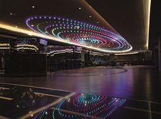 Hilton Hotel Warsaw, Poland. #conference #room #event #meeting #lights #change #color #lighting #design #bohemian #crystal