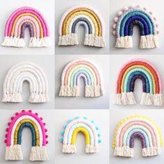 Bildergebnis für Mandi Smethells - DIY projects to try - Rainbow Crafty Projects, Diy Projects To Try, Yarn Crafts, Fabric Crafts, Diy Crafts Videos, Diy And Crafts, Etsy Macrame, Diy For Kids, Crafts For Kids